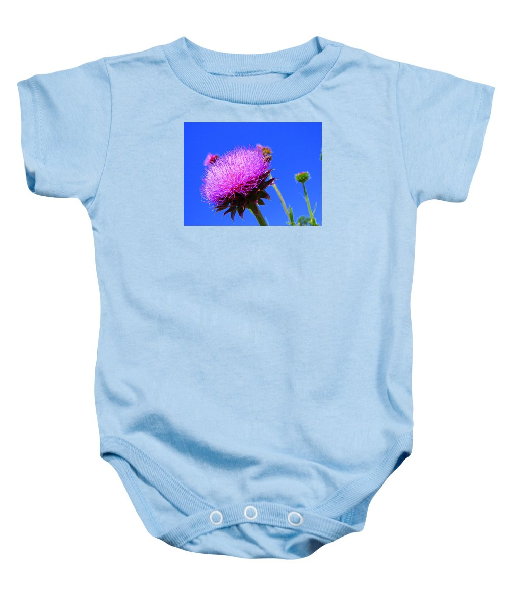 Thistle Bloom Baby Onesie featuring the photograph Pretty Weed by J R  Seymour