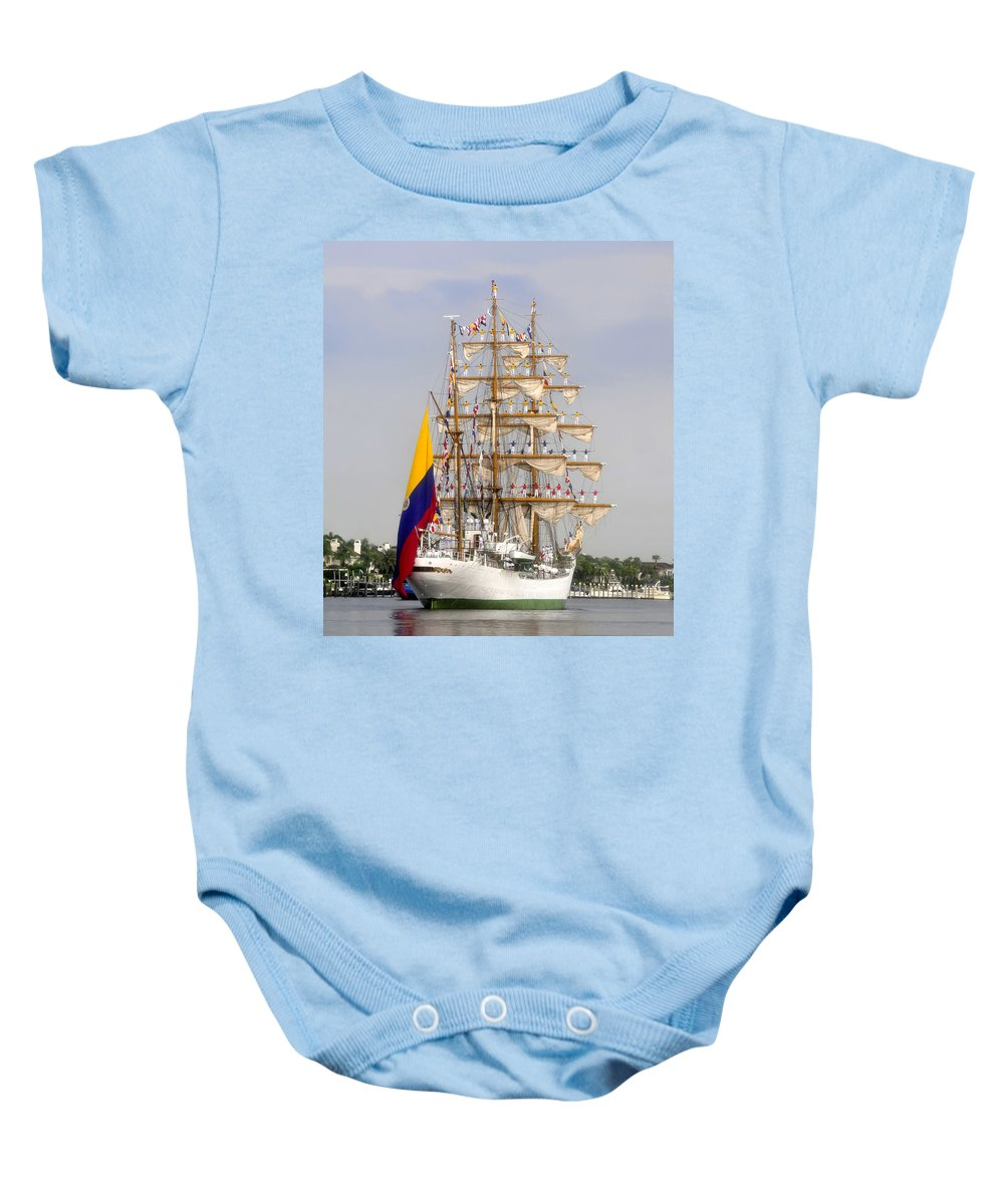 Columbia Baby Onesie featuring the photograph Pride Of Columbia by David Lee Thompson