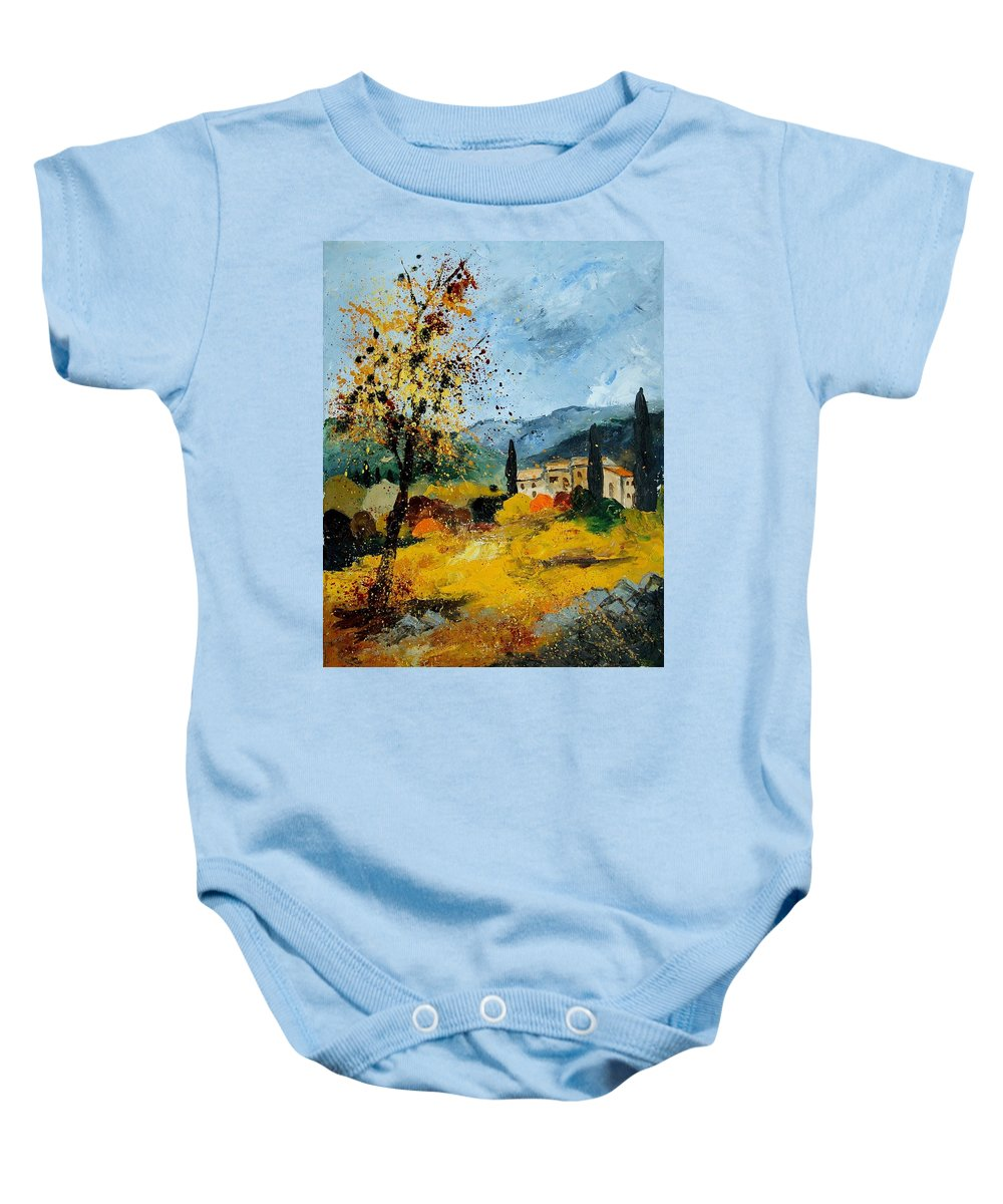 Provence Baby Onesie featuring the painting Provence 45 by Pol Ledent