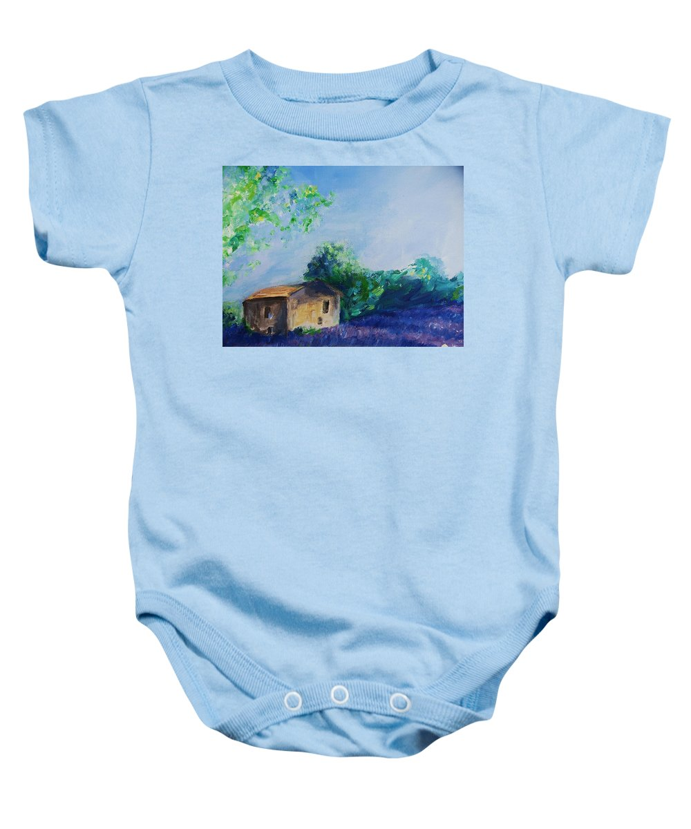 Provence Baby Onesie featuring the painting Provence House by Eric Schiabor