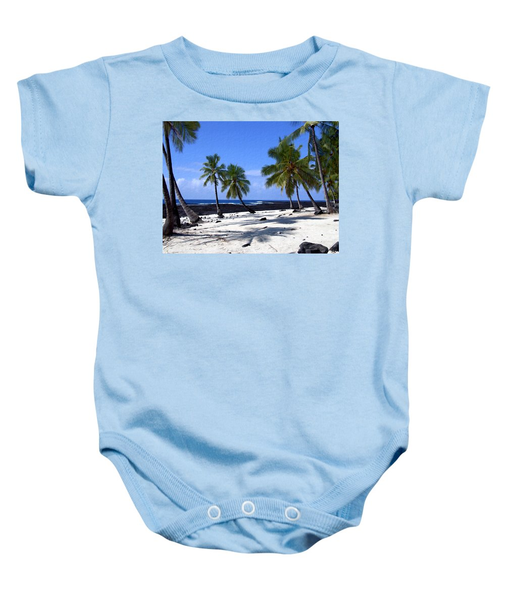 Hawaii Baby Onesie featuring the photograph Pu Uhonua O Honaunau by Kurt Van Wagner