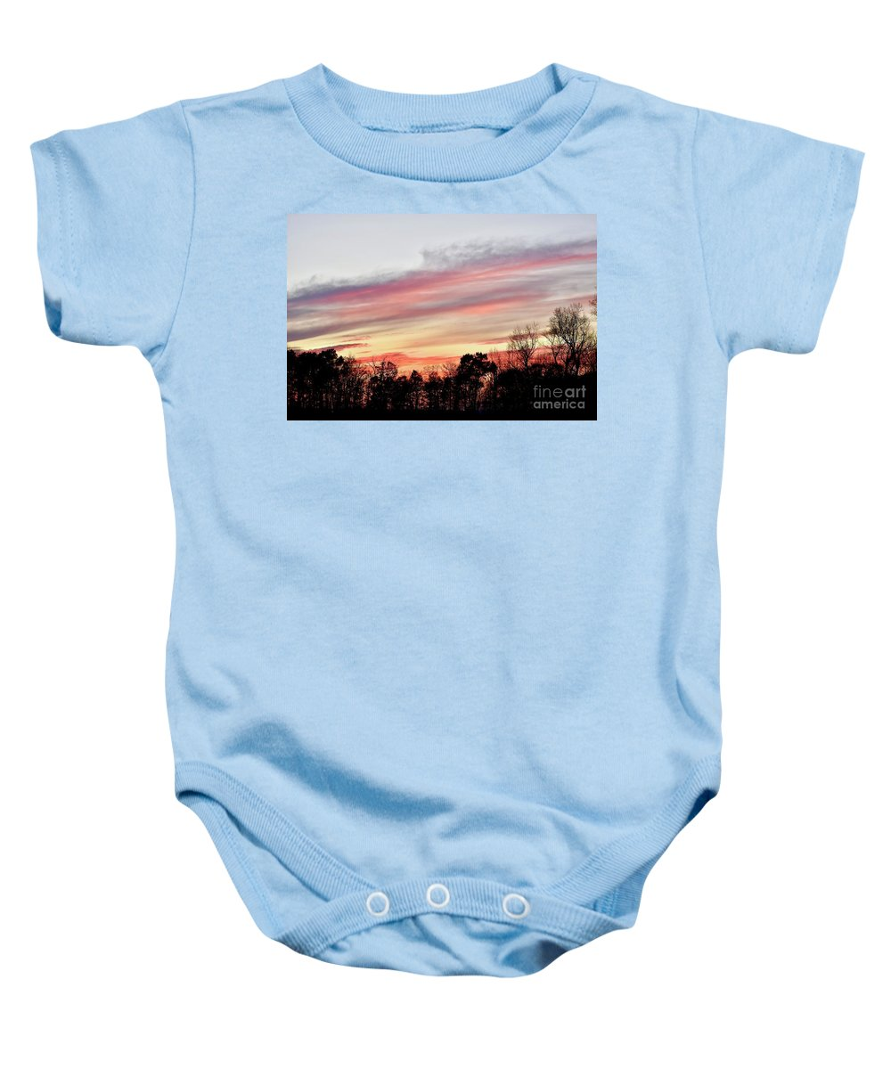 Amazing Sunset Baby Onesie featuring the photograph Pure Beauty by Jeramey Lende