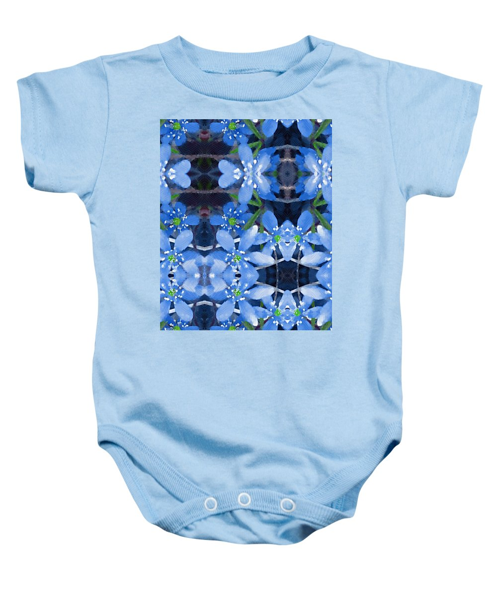 Flowers Baby Onesie featuring the mixed media Pure For Life by Pepita Selles