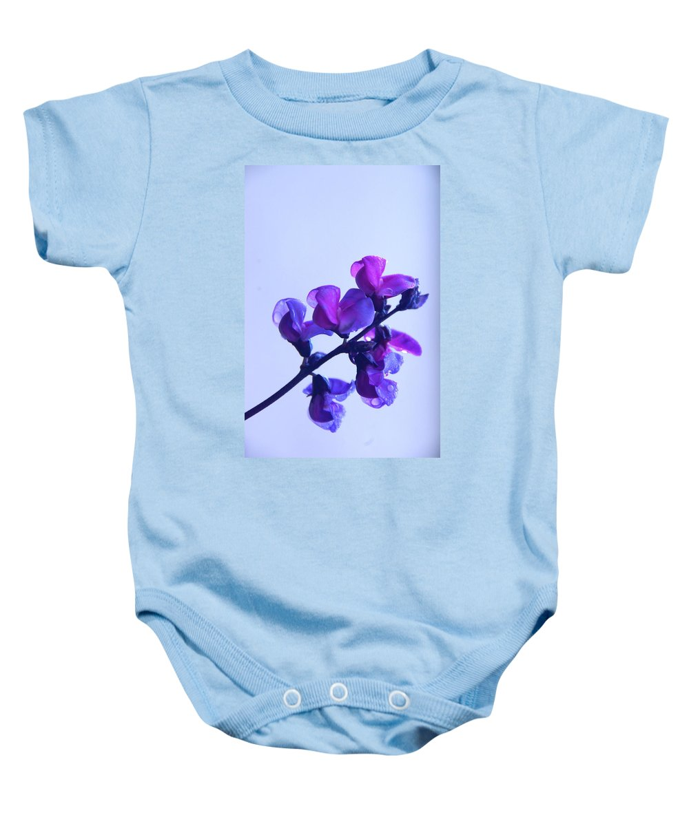 Floral Baby Onesie featuring the photograph Purple by Byron Varvarigos