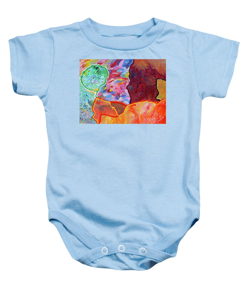 Fusionart Baby Onesie featuring the painting Puzzle by Ralph White