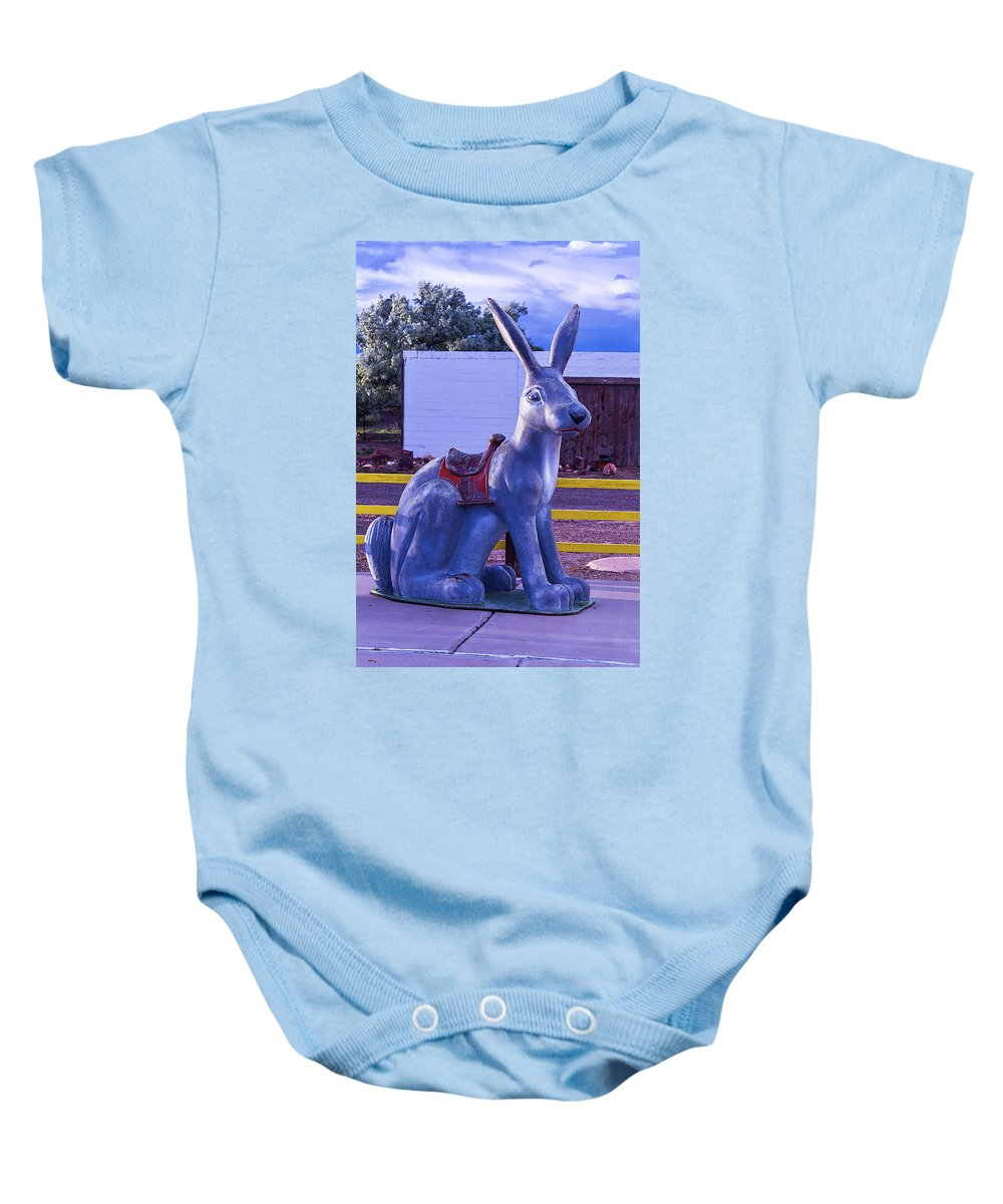 Rabbit Ride Route 66 Baby Onesie featuring the photograph Rabbit Ride Route 66 by Garry Gay