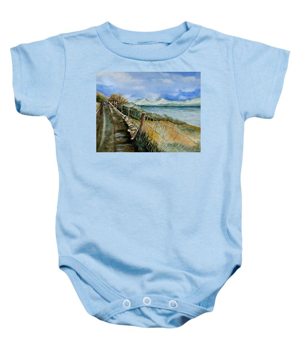 Watercolor Baby Onesie featuring the painting Rambling Walk by Brenda Owen