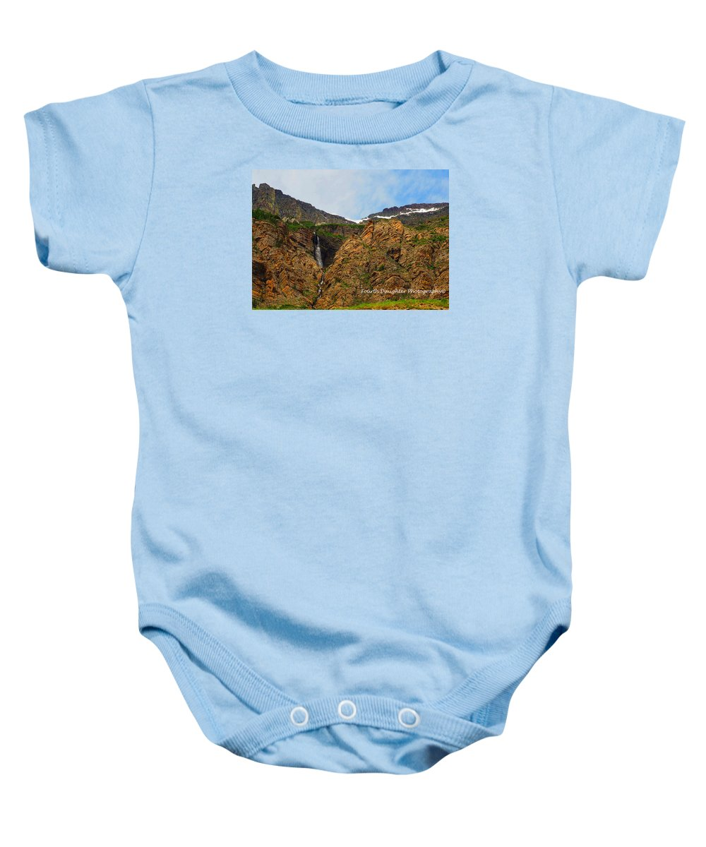 Mountains Baby Onesie featuring the photograph Random Mountain Waterfall by Diane Shirley