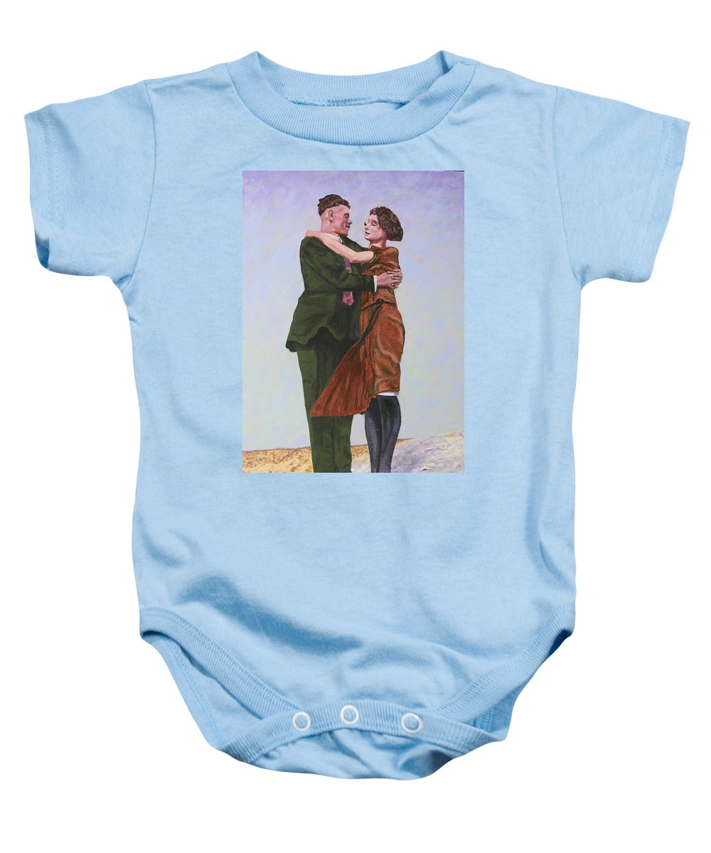 Double Portrait Baby Onesie featuring the painting Ray And Isabel by Stan Hamilton