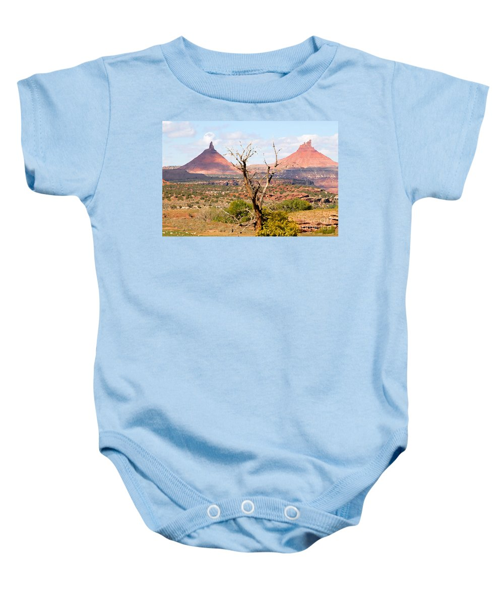 Buttes Baby Onesie featuring the photograph Red Buttes by David Lee Thompson