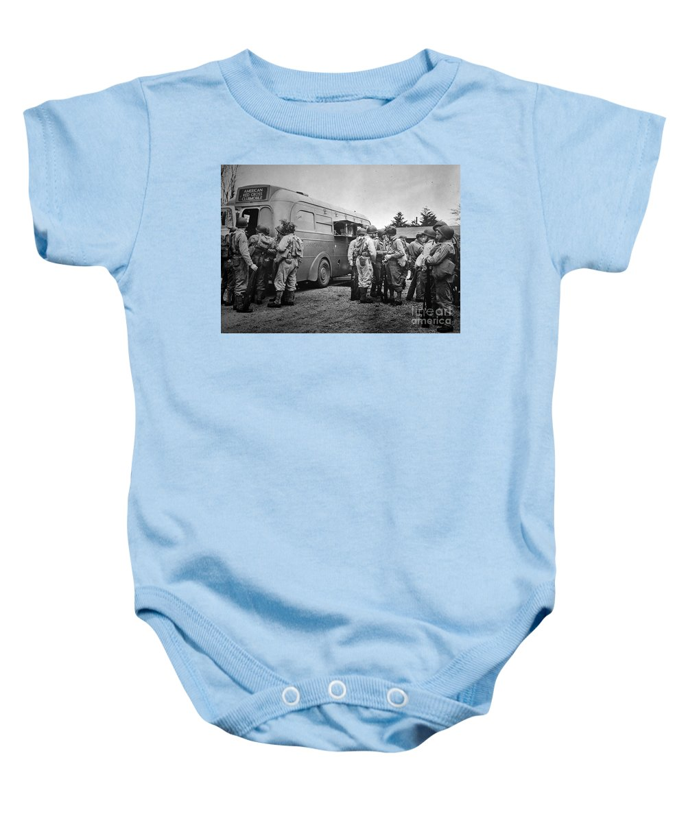 1942 Baby Onesie featuring the photograph Red Cross: Clubmobile by Granger