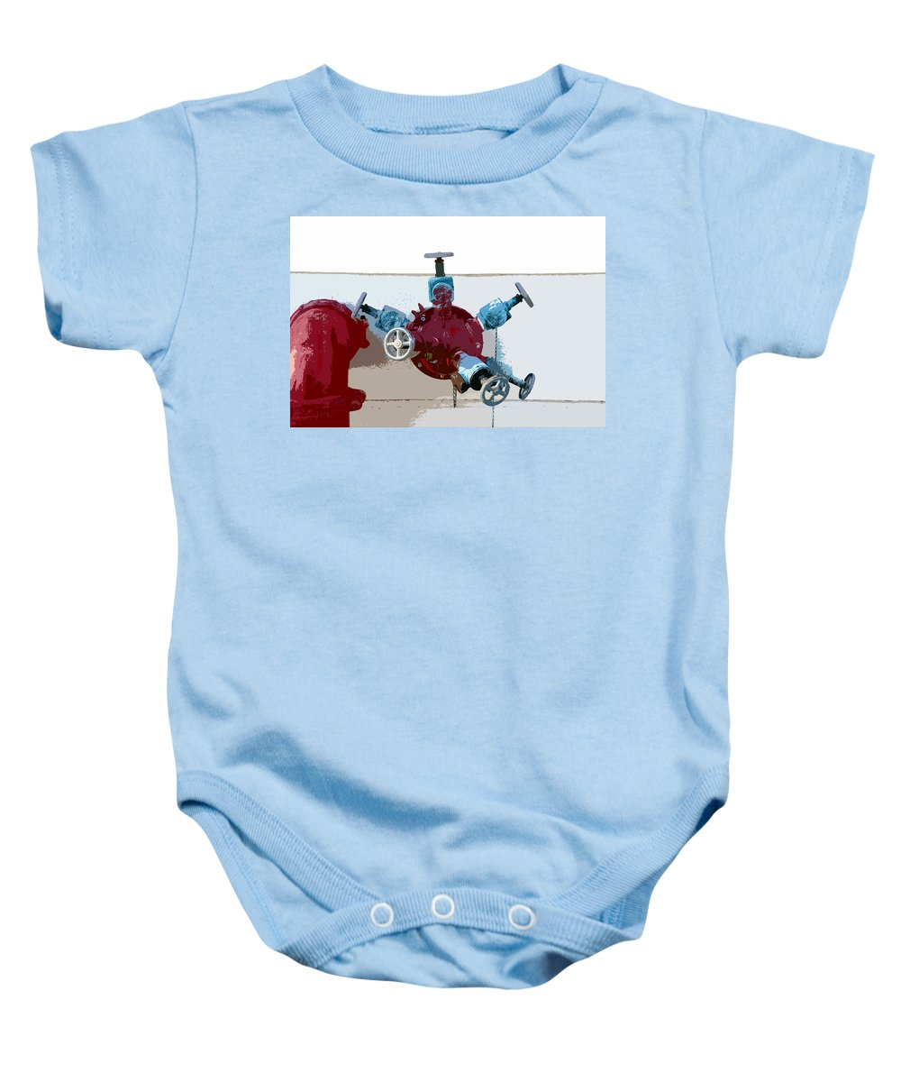 Art Baby Onesie featuring the photograph Red Pump by David Lee Thompson