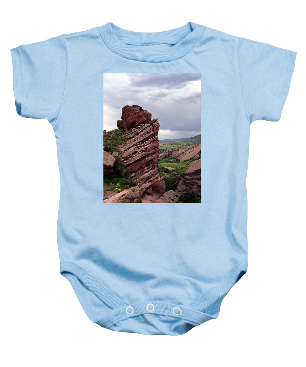 Red Rocks Baby Onesie featuring the photograph Red Rocks Colorado by Merja Waters
