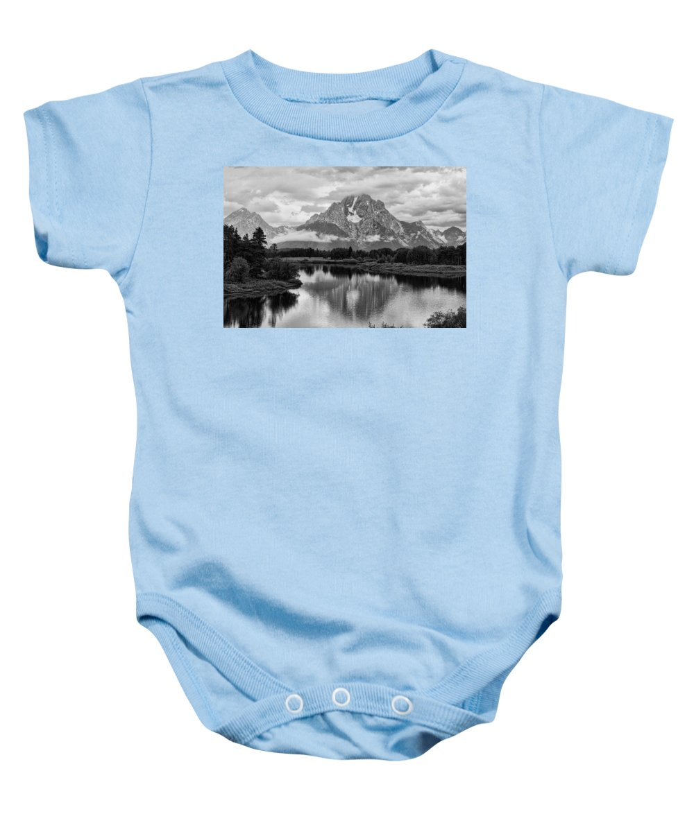 Oxbow Baby Onesie featuring the photograph Reflection Of Signal Mountain by Hugh Smith