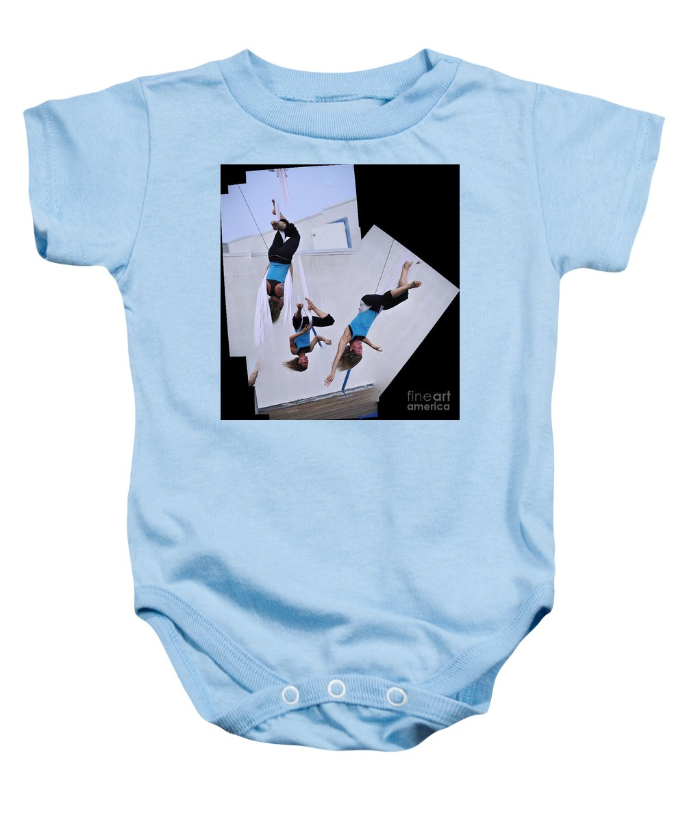 Clay Baby Onesie featuring the photograph Rehearsing by Clayton Bruster