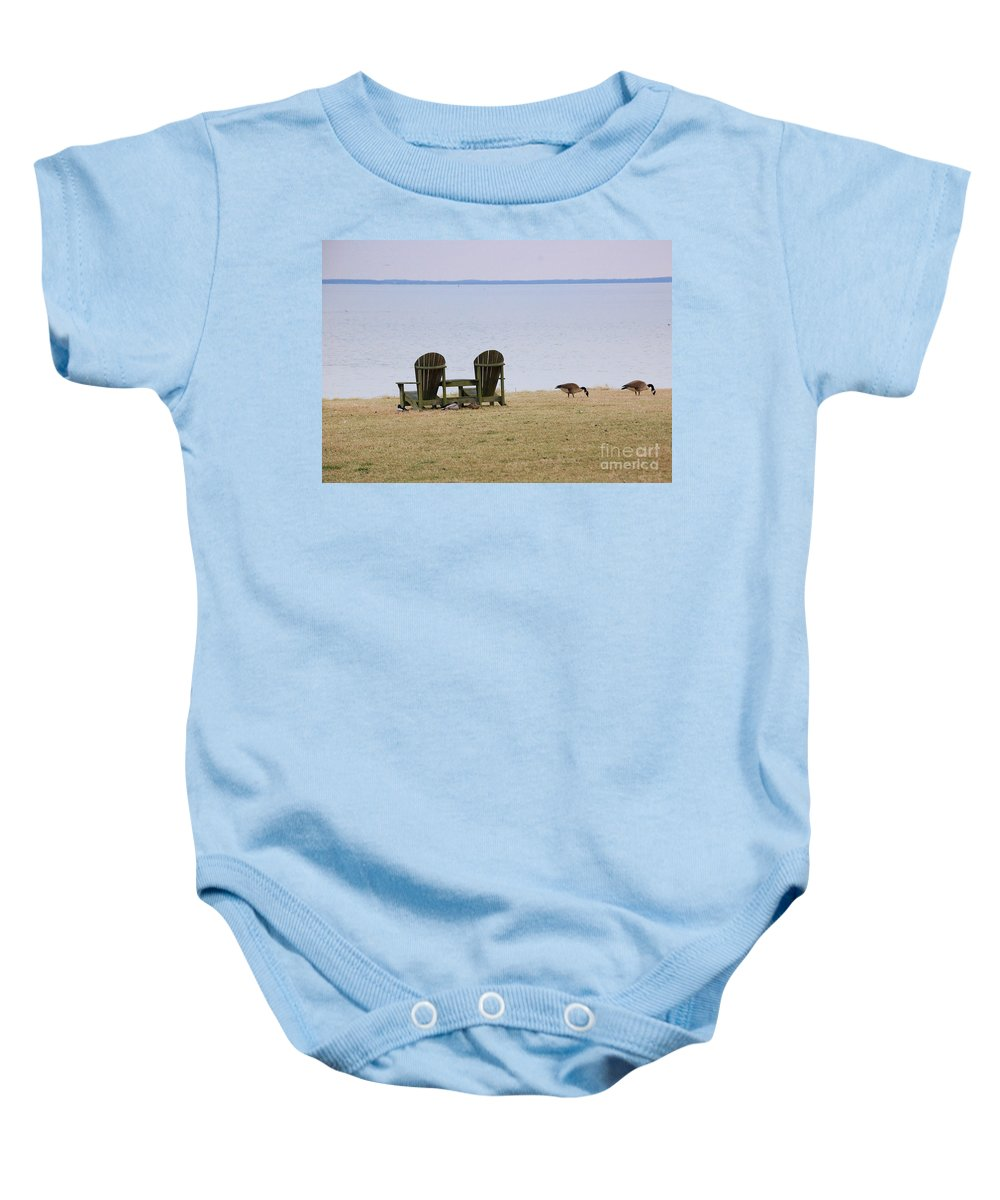 Chairs Baby Onesie featuring the photograph Relax by Debbi Granruth