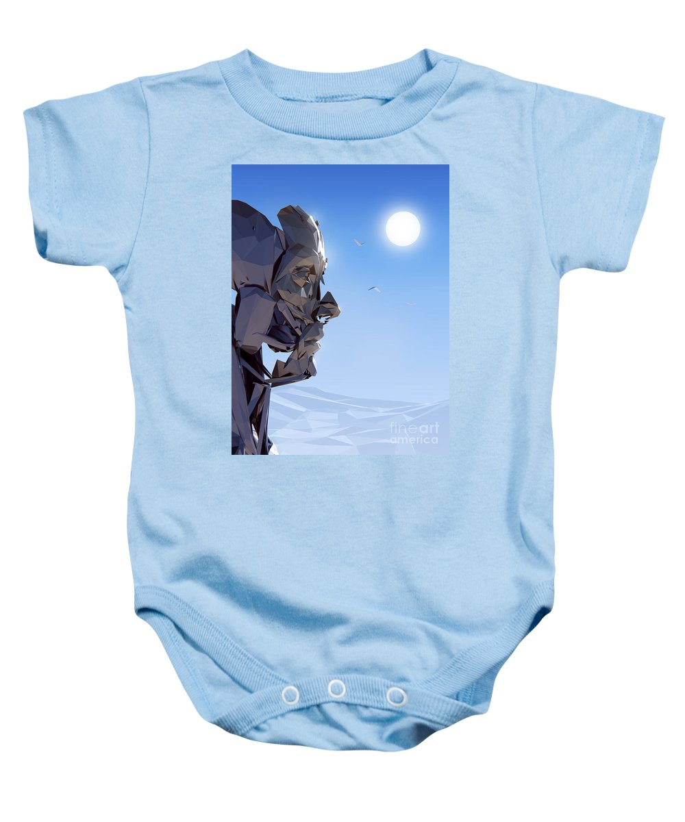 Starwars Baby Onesie featuring the painting Remember Me by Pixel Chimp