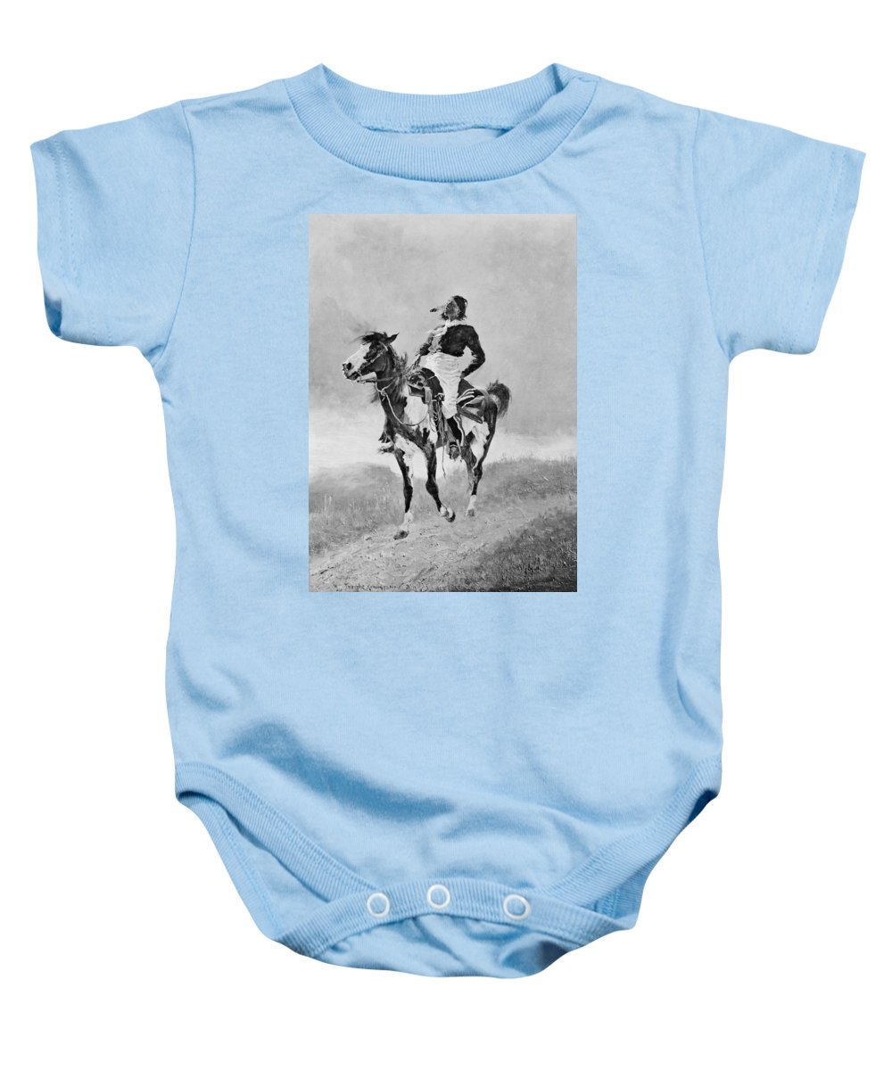 1890 Baby Onesie featuring the photograph Remington: Comanche, C1890 by Granger