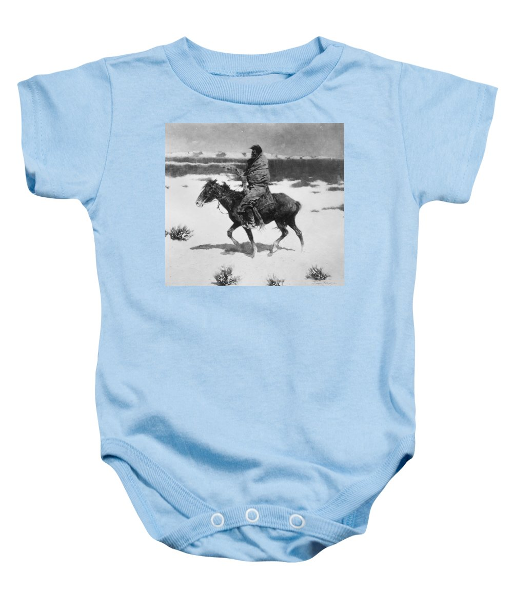 19th Century Baby Onesie featuring the photograph Remington: Luckless Hunter by Granger