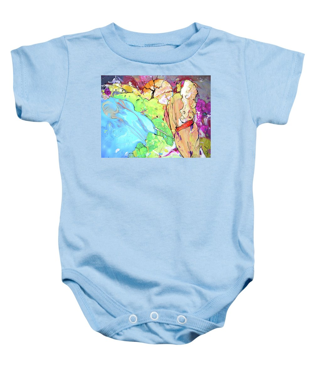 Fantasy Baby Onesie featuring the painting Retour Aux Sources by Miki De Goodaboom