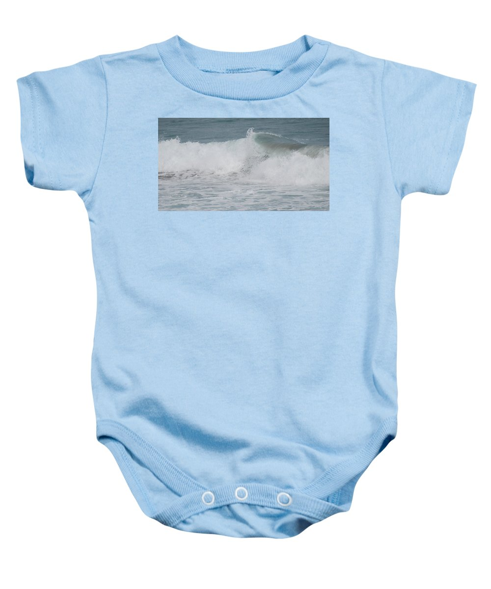 White Baby Onesie featuring the photograph Ripple by Rob Hans