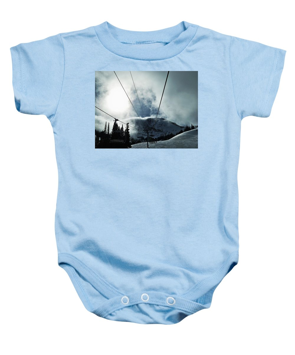Landscape Baby Onesie featuring the photograph Rise To The Sun by Michael Cuozzo