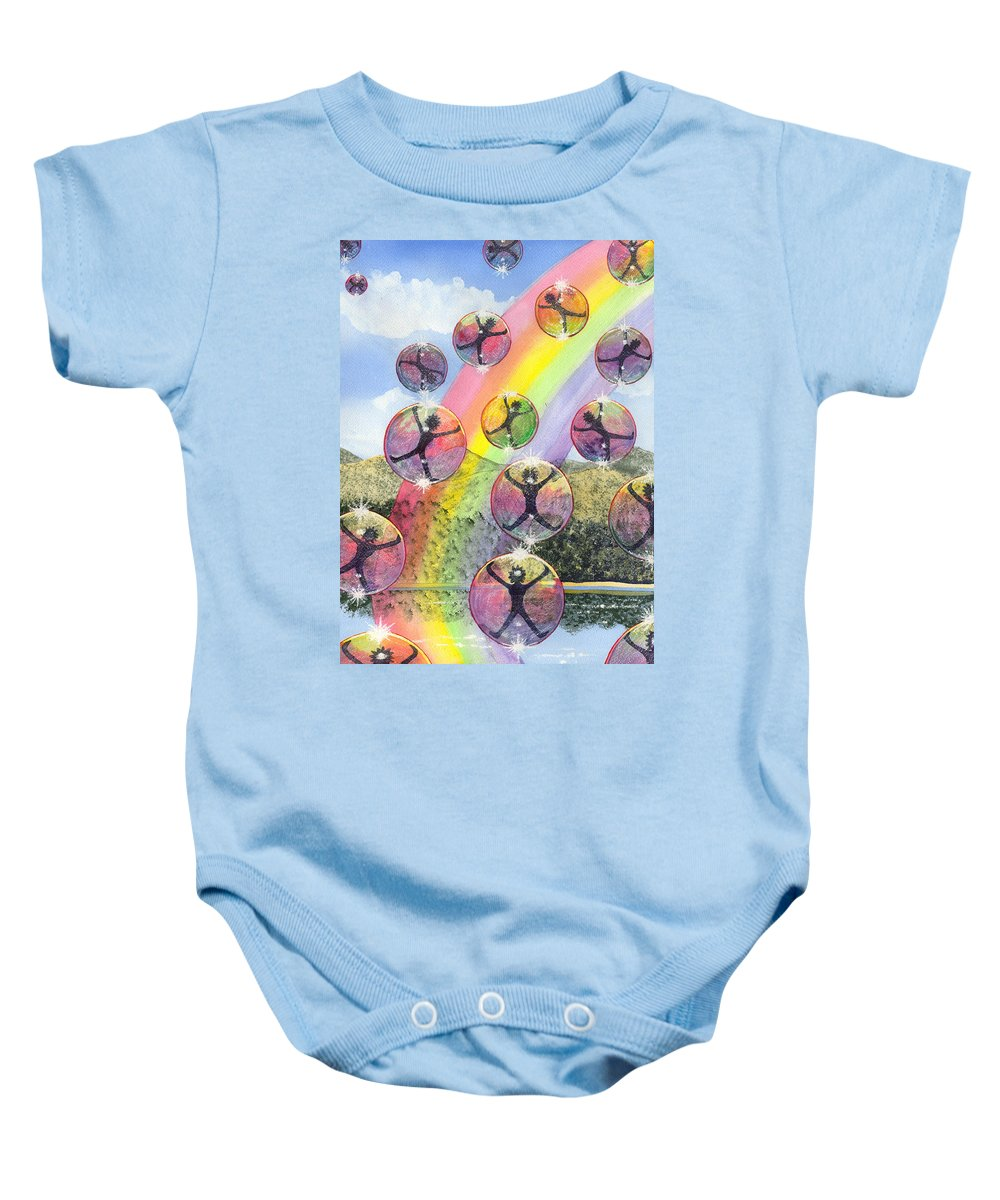 Bubbles Baby Onesie featuring the painting Rising Above It All by Catherine G McElroy