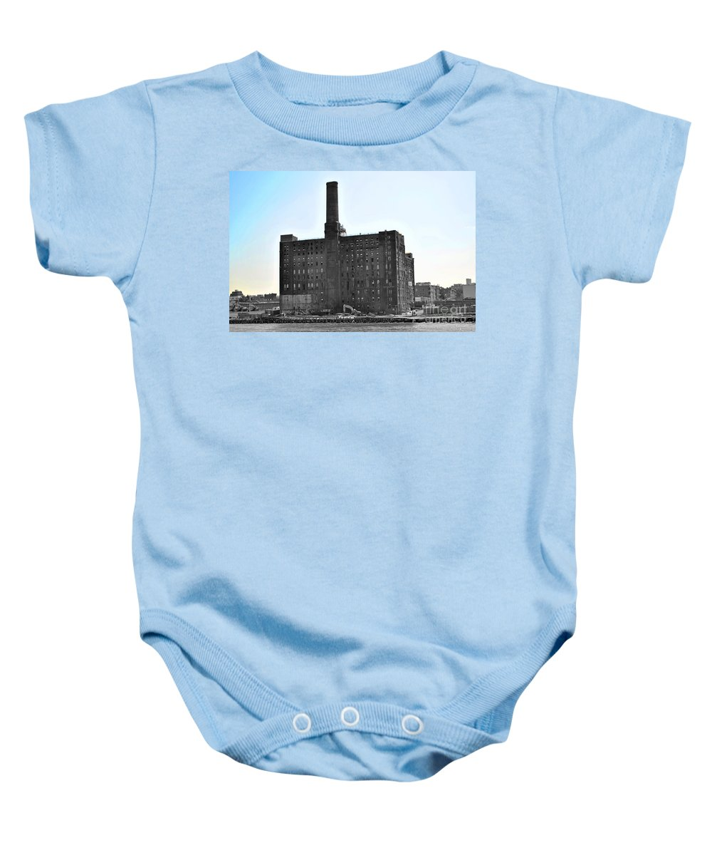 New Baby Onesie featuring the photograph River Factory by Jost Houk