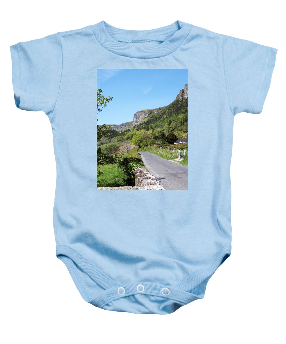 Irish Baby Onesie featuring the photograph Road To Benbulben County Leitrim Ireland by Teresa Mucha