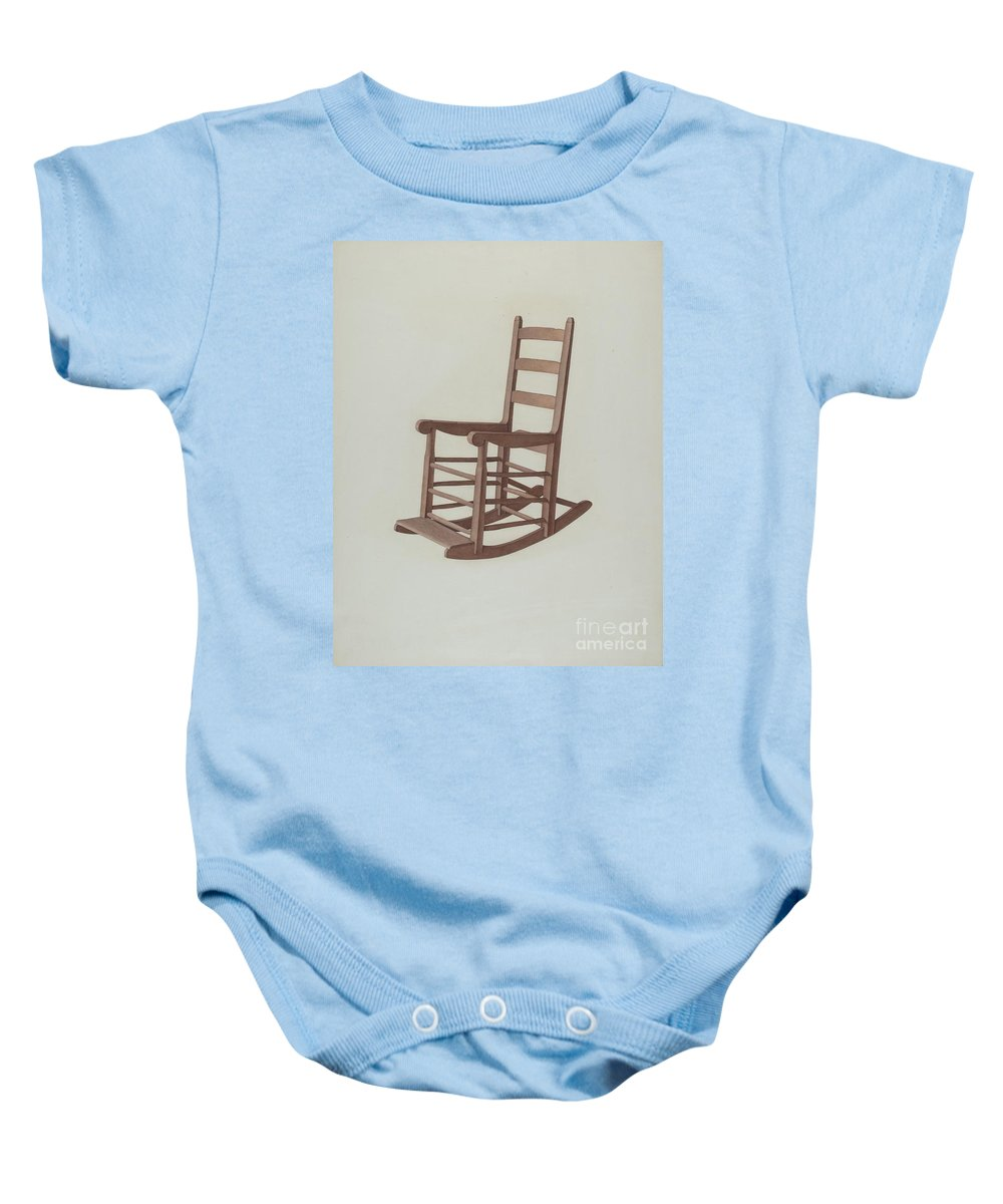 Baby Onesie featuring the drawing Rocker by Dorothy Johnson