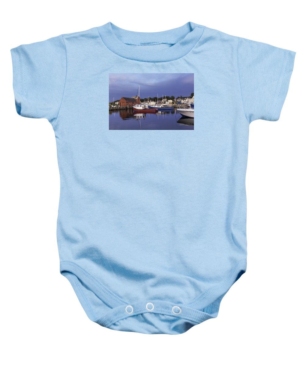 Rockport Baby Onesie featuring the photograph Rockport by Luis Torres