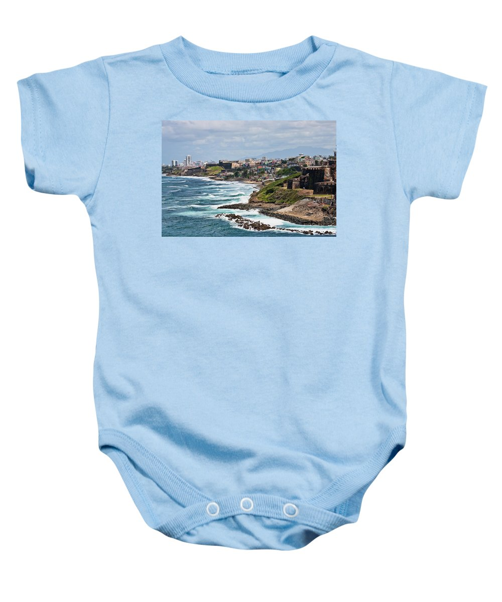 Beach Baby Onesie featuring the photograph Rocky Coast Of Puerto Rico by Darryl Brooks
