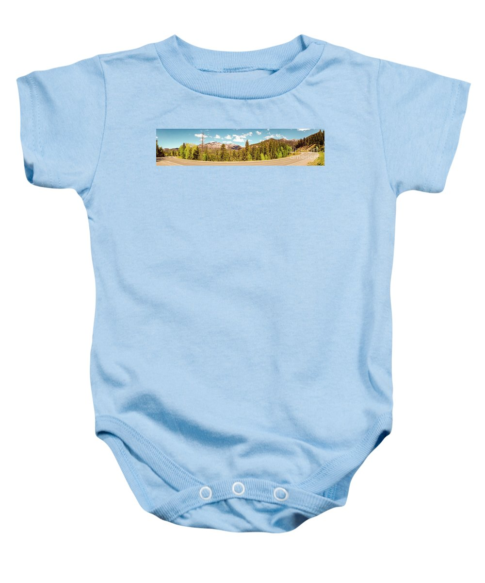 Colorado Baby Onesie featuring the photograph Rocky Mountain Panorama by George Lehmann