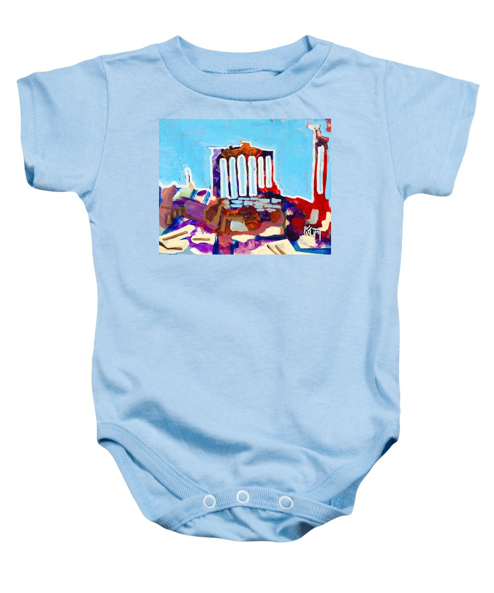 Rome Baby Onesie featuring the painting Rome by Kurt Hausmann