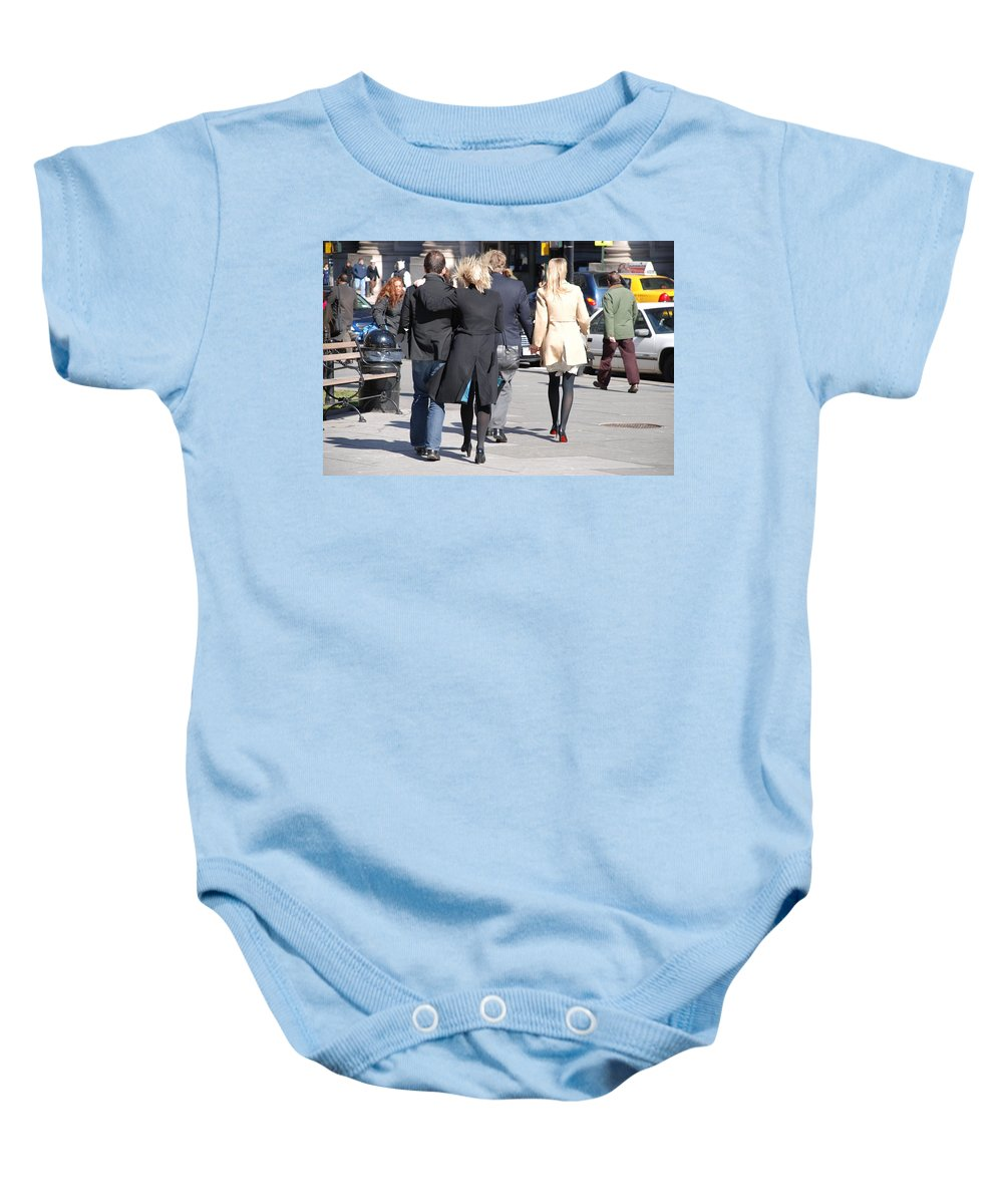 Urban Baby Onesie featuring the photograph Rushing To The Alter by Rob Hans