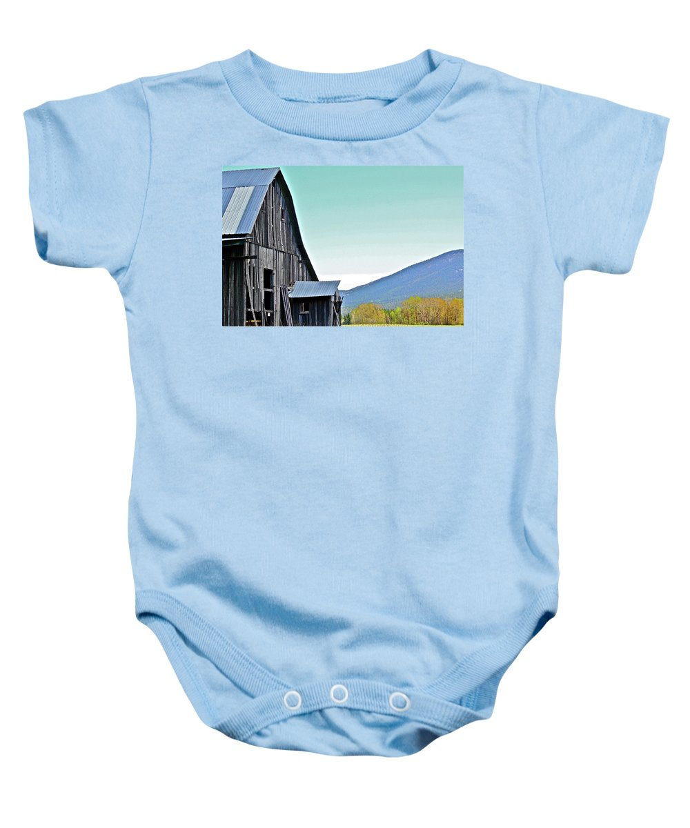 Barn Baby Onesie featuring the photograph Rustic Barn by Diana Hatcher