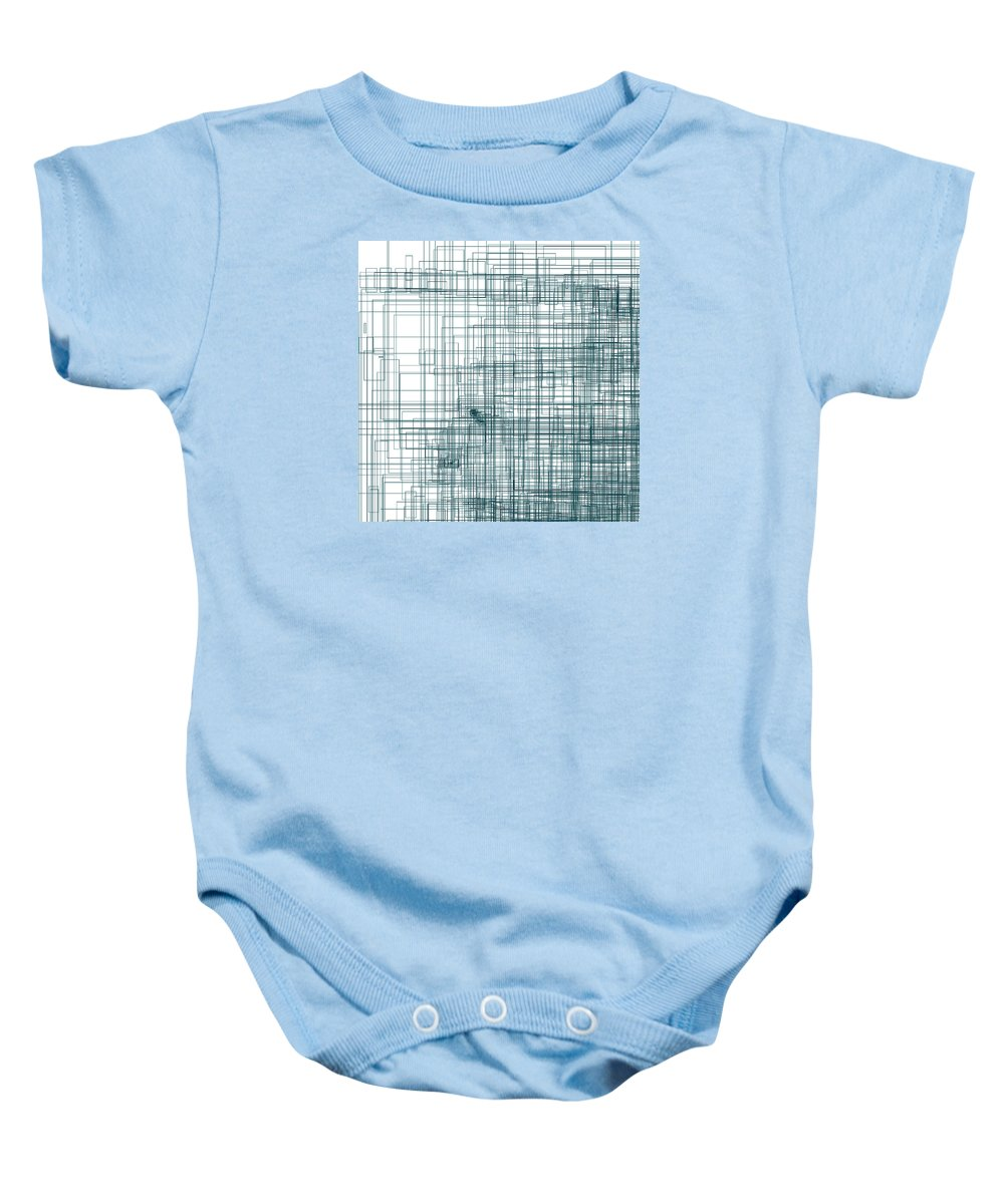 Abstract Baby Onesie featuring the digital art S.3.51 by Gareth Lewis