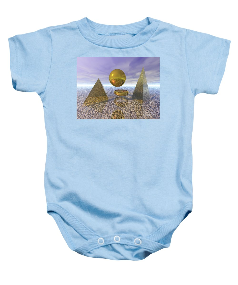 Meditation Baby Onesie featuring the digital art Sacred Geometry by Oscar Basurto Carbonell