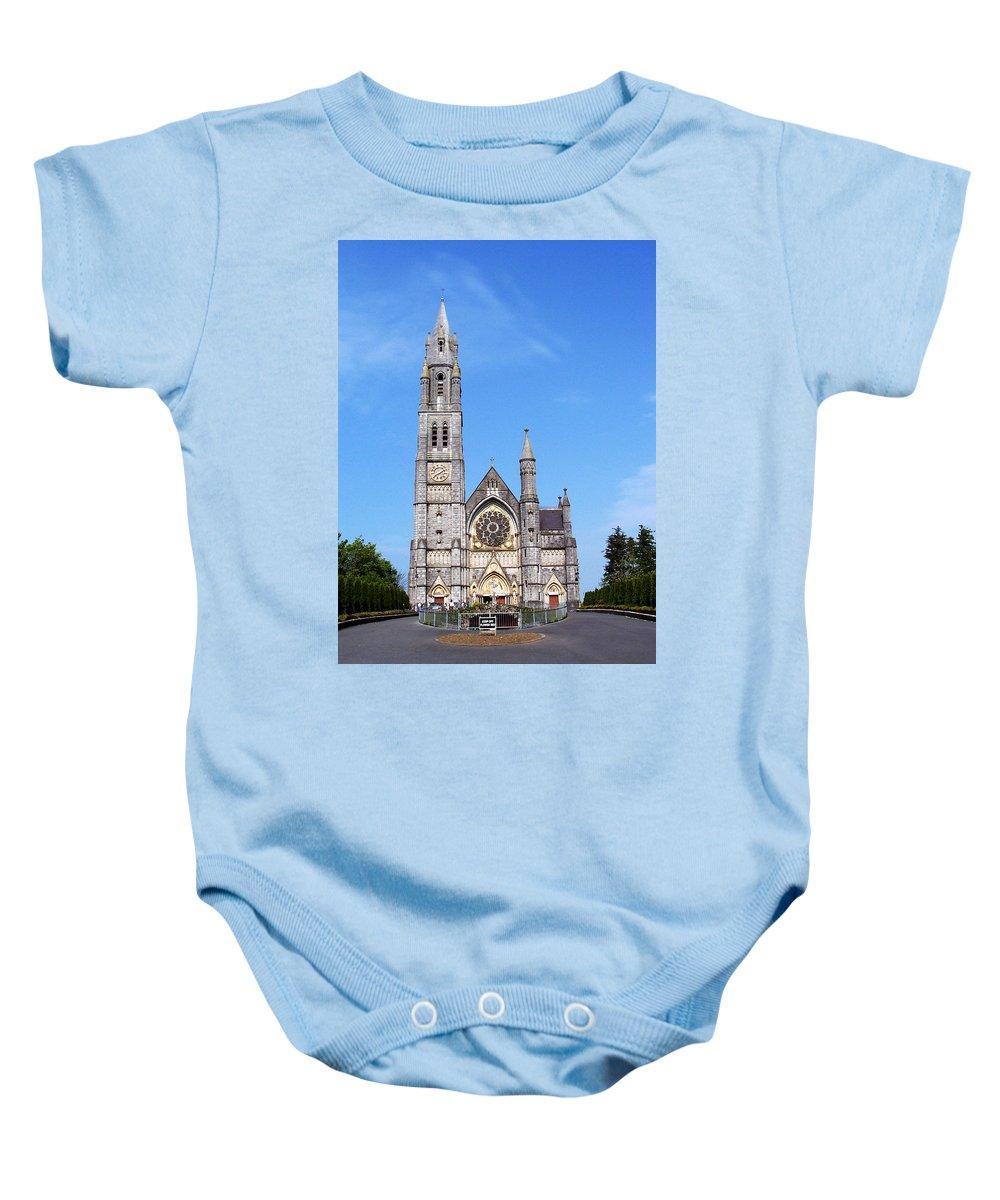 Ireland Baby Onesie featuring the photograph Sacred Heart Church Roscommon Ireland by Teresa Mucha