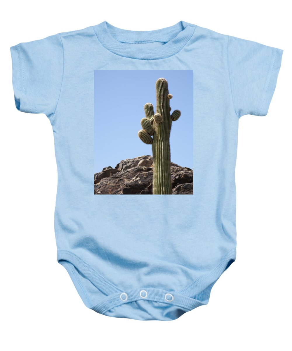 Saguaro Baby Onesie featuring the photograph Saguaro 1 by Kelley King