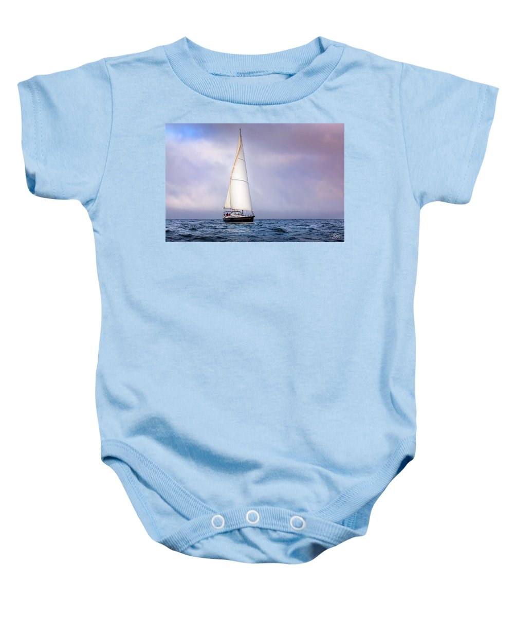 Sailboat Baby Onesie featuring the photograph Sailboat 7 by Endre Balogh