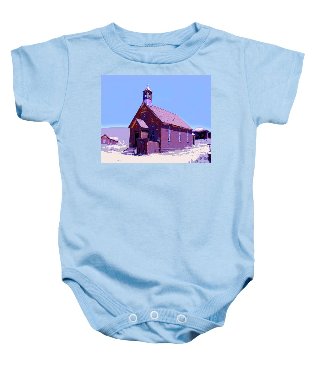 Church Baby Onesie featuring the mixed media Saint Teresa by Dominic Piperata