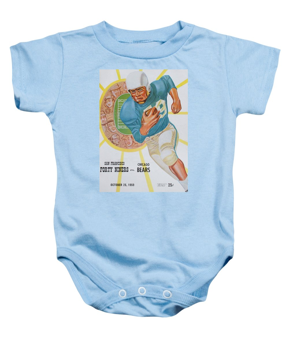 49ers Baby Onesie featuring the photograph San Francisco 49ers Vintage Program 3 by Joe Hamilton
