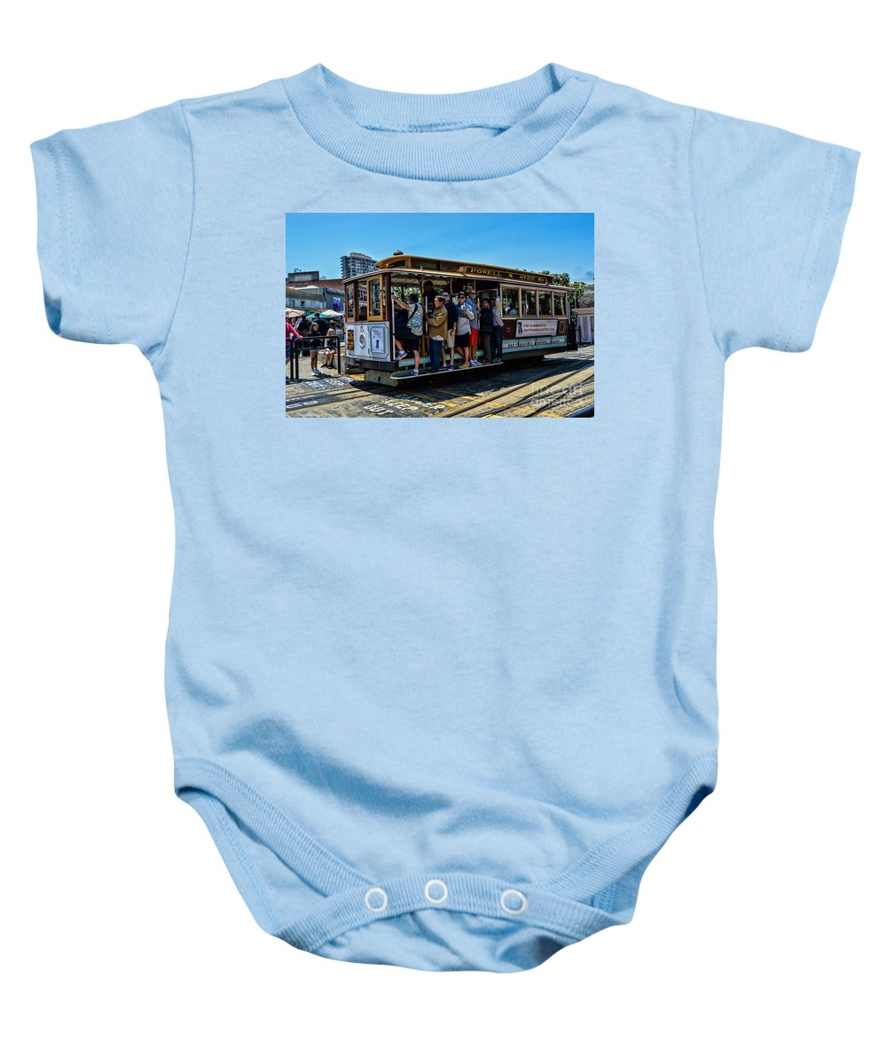 Cable Cars Baby Onesie featuring the photograph San Francisco, Cable Cars -3 by Tommy Anderson