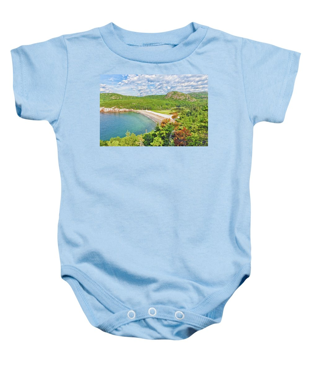 Landscape Baby Onesie featuring the photograph Sand Beach by John M Bailey