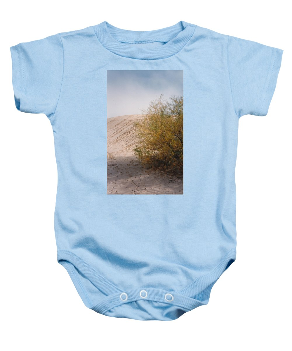 Sands Sand Footprints Bush Baby Onesie featuring the photograph Sands Of Monahans by Cindy New