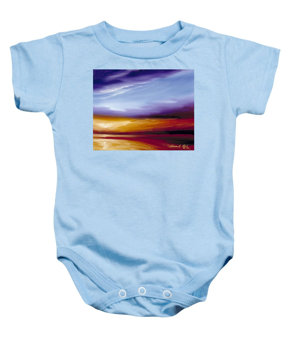 Skyscape Baby Onesie featuring the painting Sarasota Bay II by James Christopher Hill