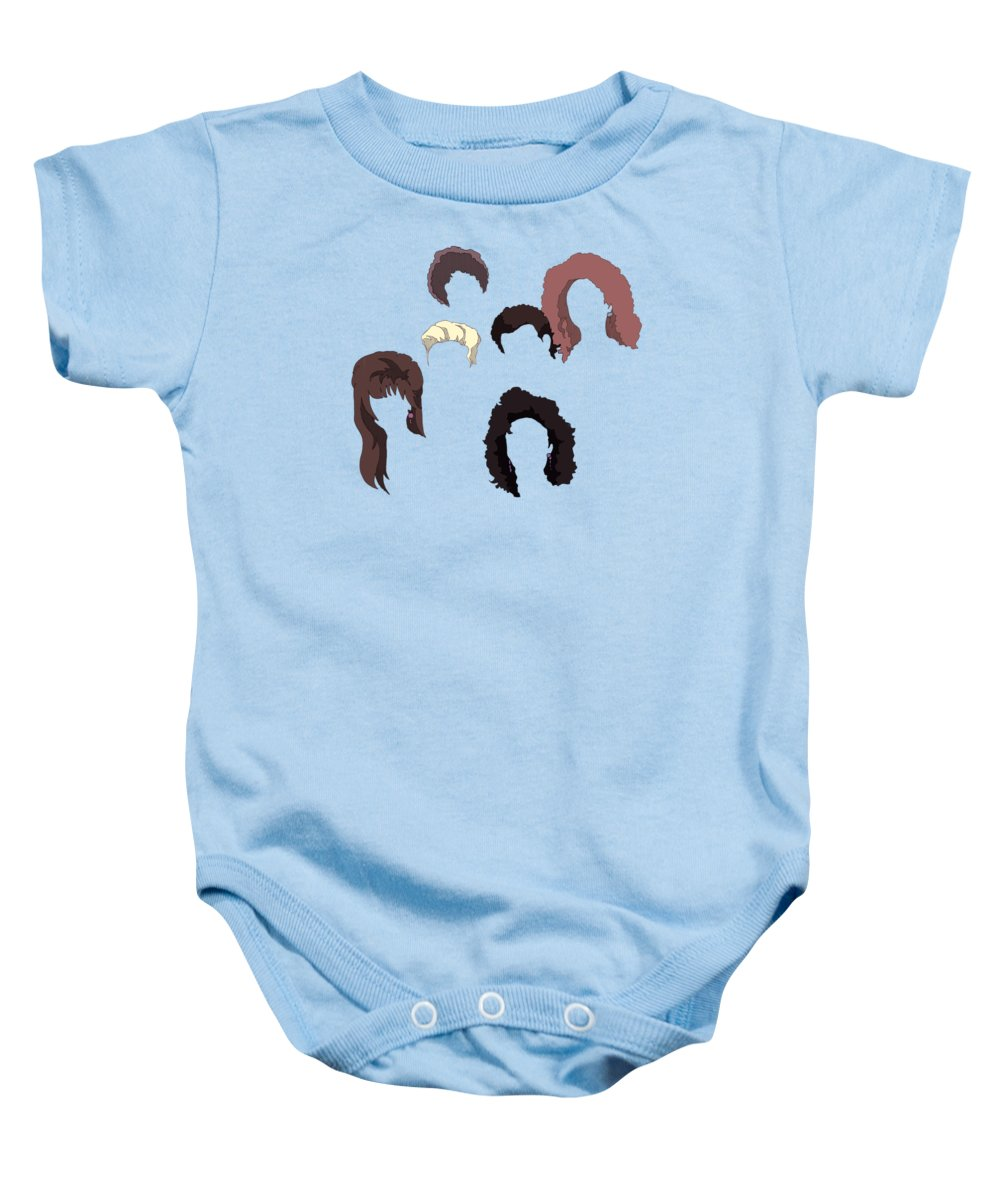 Saved Baby Onesie featuring the drawing Saved By The Hair by Ludwig Van Bacon