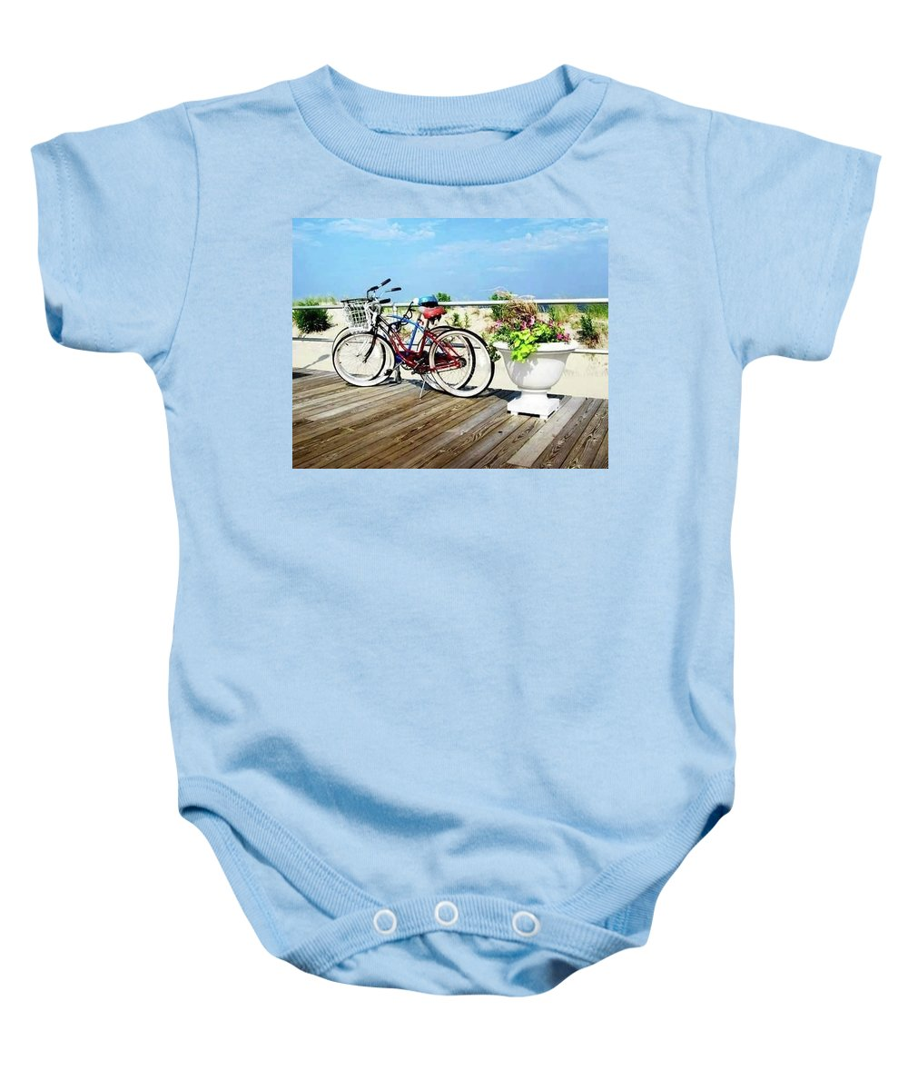 Baby Onesie featuring the photograph Schwinn Twins by Robin Dell Maccaro