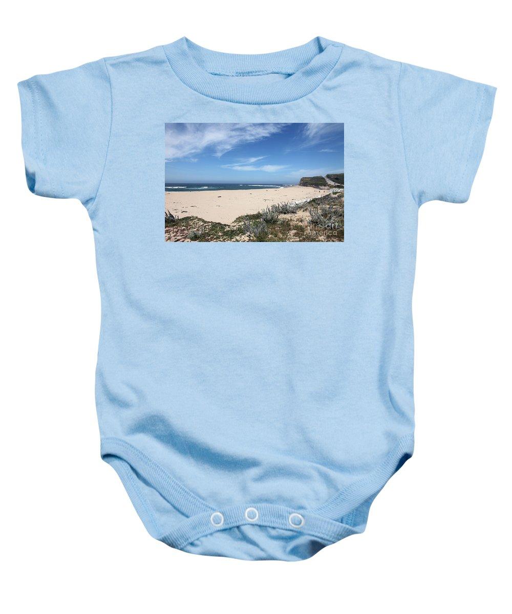 Beaches Baby Onesie featuring the photograph Scott Creek Beach Hwy 1 by Amanda Barcon